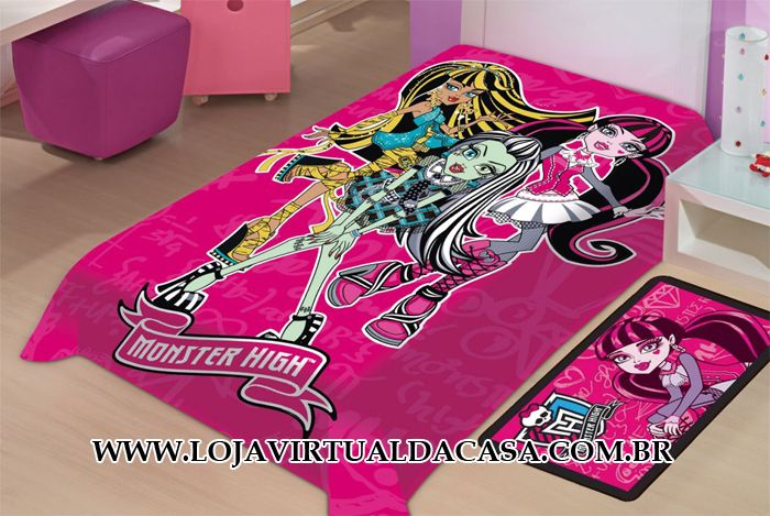 COBERTOR PARA INVERNO MONSTER HIGH PINK